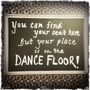 JTD Productions Dance Floor Sign